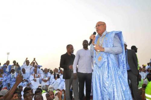 الحوض الشرقي: المترشح محمد ولد الغزواني يتعهد بتحقيق تطلعات الشعب الموريتاني